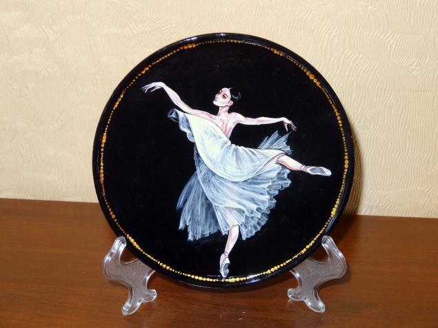шкатулка с балетом, роспись по дереву, недорогой подарок