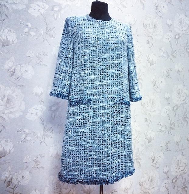 Сшить платье из ткани шанель 2