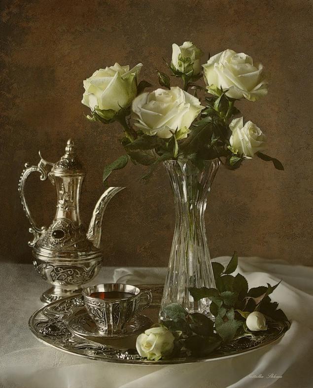 кофе белая посуда роза картинки фото мясная