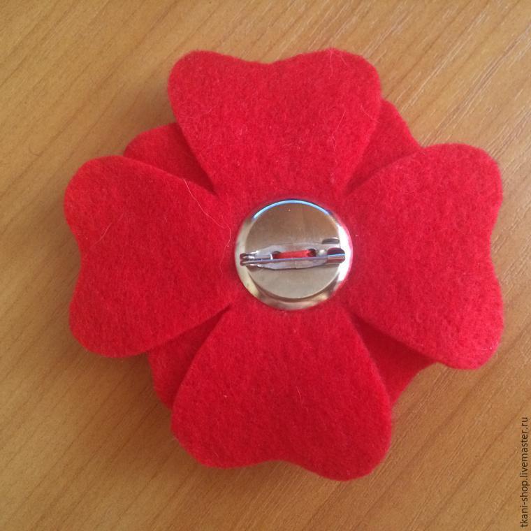 Брошка своими руками ткани цветок