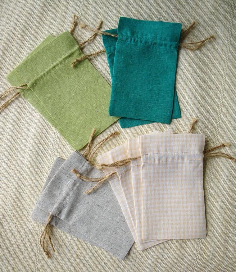мешочки образцы льна