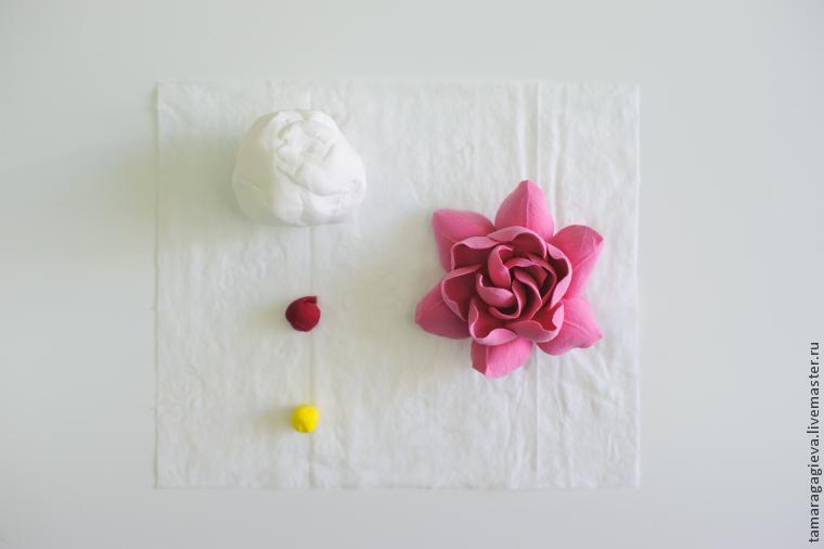 Гардения из полимерной глины. Мастер класс Тамары