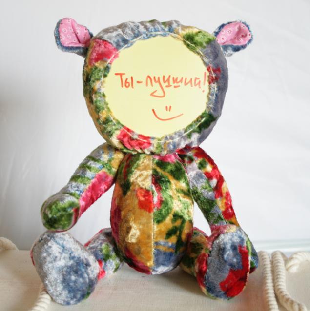 мишка тедди, блокнот, плюшевый мишка, любовь, авторская игрушка, для дома