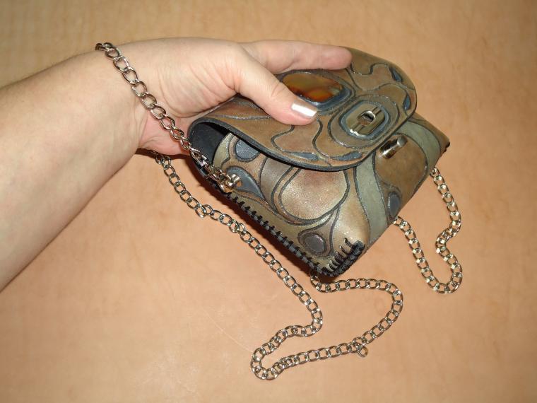 натуральная кожа, сумка ручной работы, сумка женская, вечерняя сумочка