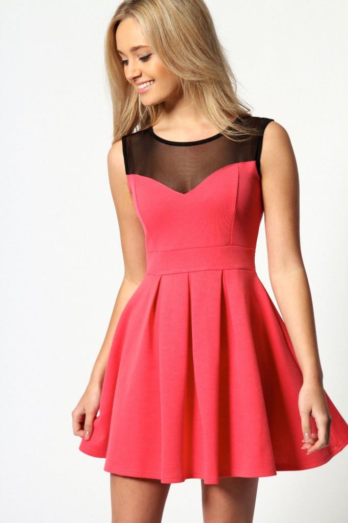 Розово коралловое платье