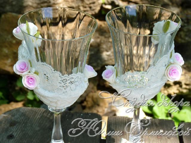 мастер класс свадебные бокалы