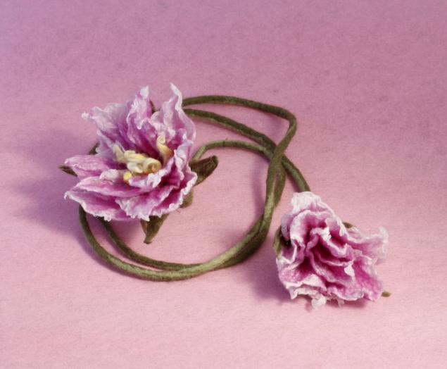 валяные цветы