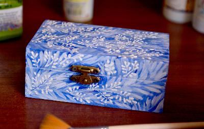 роспись, голубой