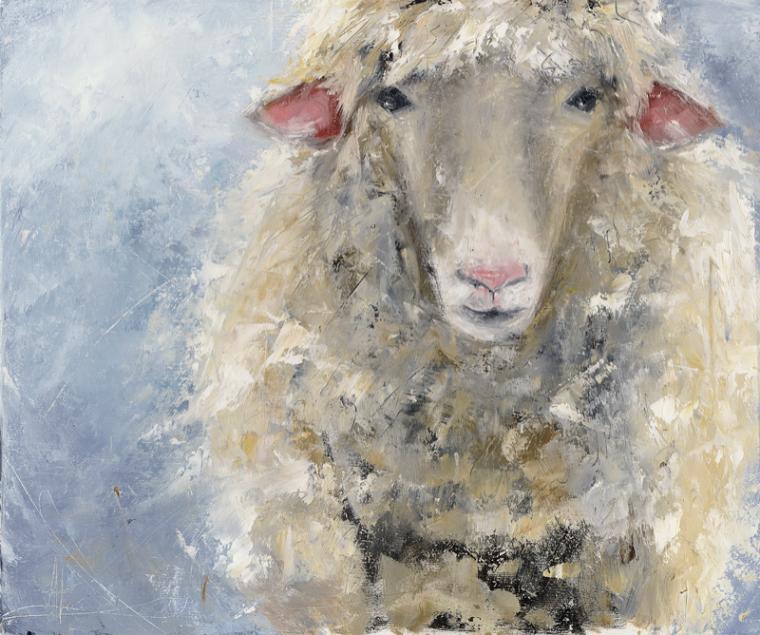 новинка, новая работа, живопись, овечка