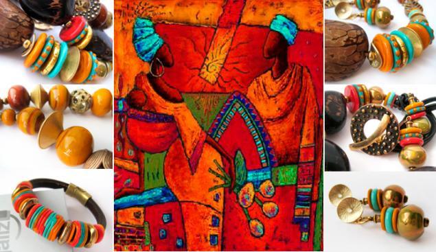 новая коллекция, яркие украшения, африка, африканский стиль