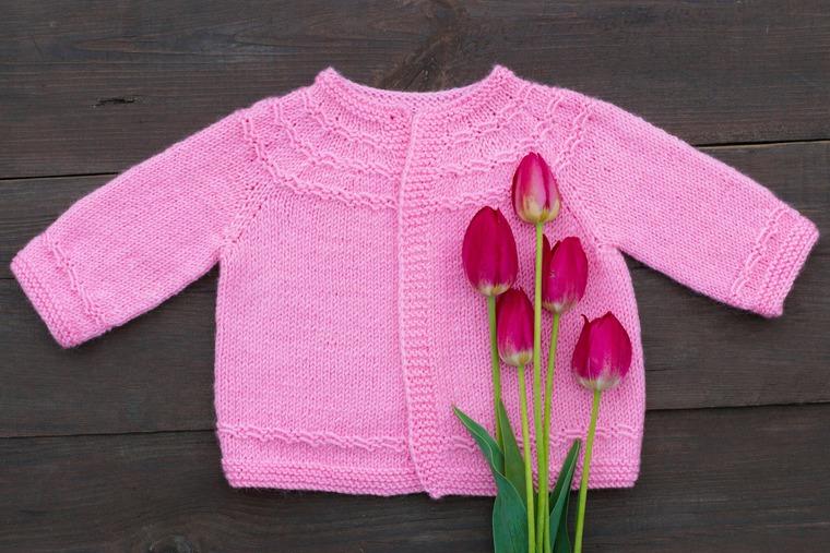 кофточка, малышам, розовый, девочке, карамель