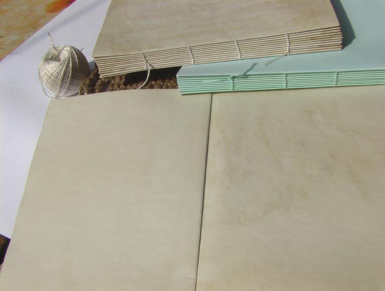 блокнот ручной работы, блок для блокнотов, состаривание предметов