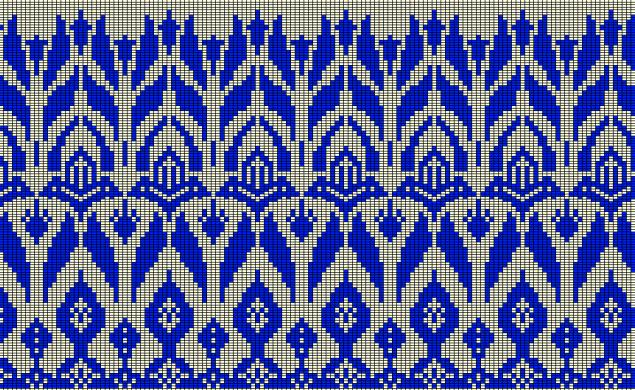 цветочный орнамент, схема