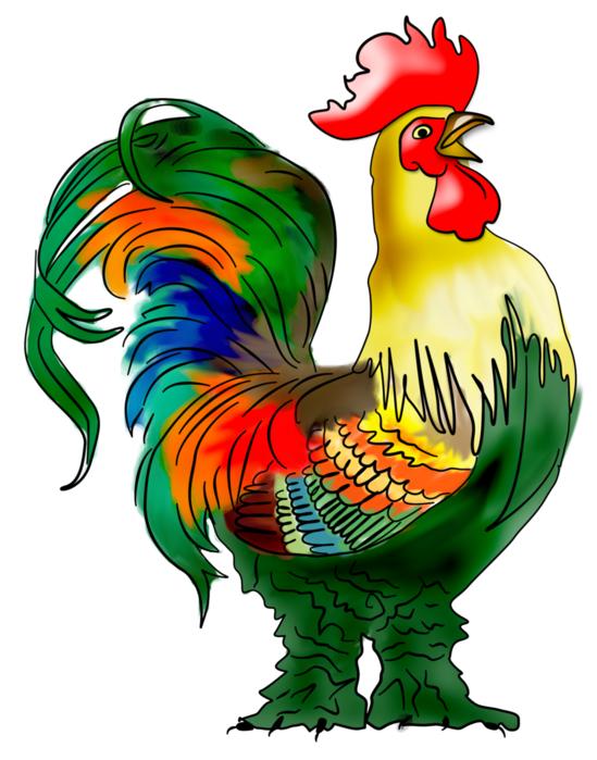 Цветная картинка петушка для детей