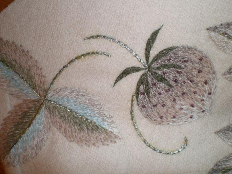the idea of the embroidery sti