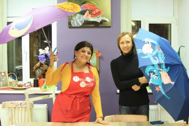 зонтик, мастер-класс, роспись зонтов