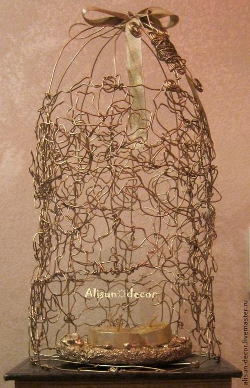 для декора дома, плетение из проволоки