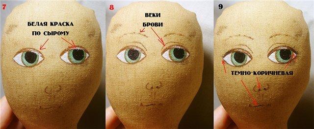 как нарисовать лицо, губы куклы