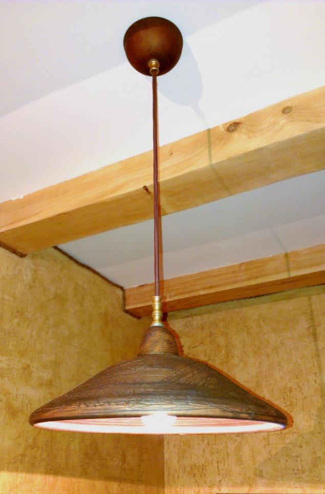 люстры потолочные, люстры в деревянный дом, светильник из глины