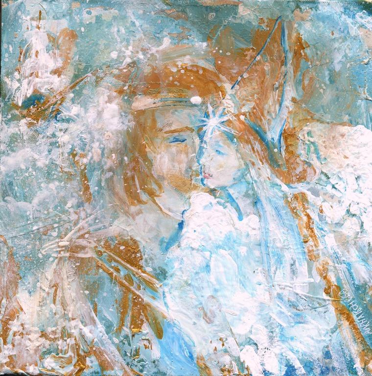 картина на холсте, картина фэнтези, картина сказки моря, сказки алены коневой