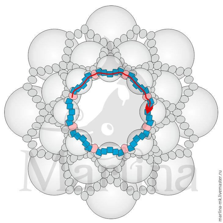 Jellyfish Pendant DIY with Pearls and Swarovski Crystals, фото № 16