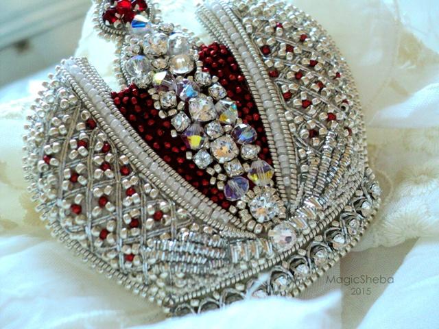 Вышивки бисером корона