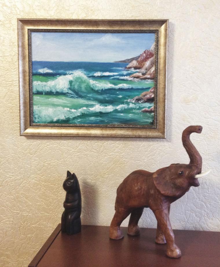 акция, скидка, картина со скидкой, картина маслом, волна, морской пейзаж, море, картина для интерьера, подарок, картина в подарок, картина для настроения