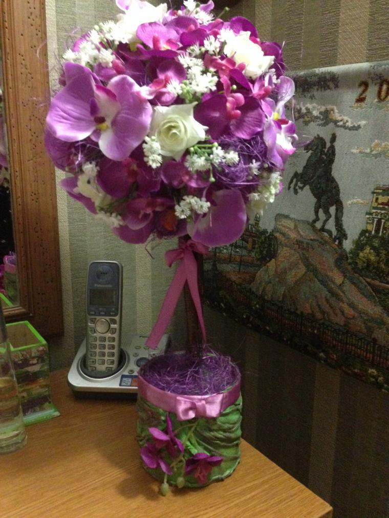 топиарий, орхидея