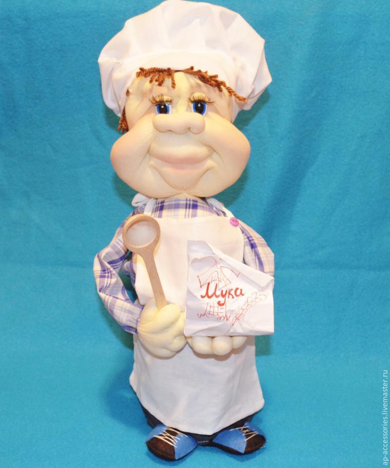"""Шьем """"Повара"""" - куклу из колготок - Ярмарка Мастеров - ручная работа, handmade"""