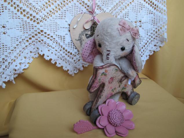 слоник, слоняша, тедди, игрушка ручной работы