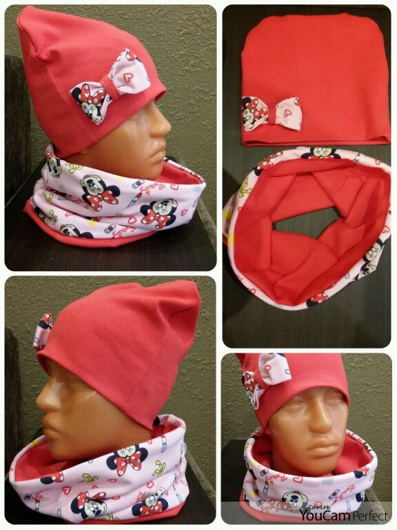 Сшить детскую шапочку и снуд 544