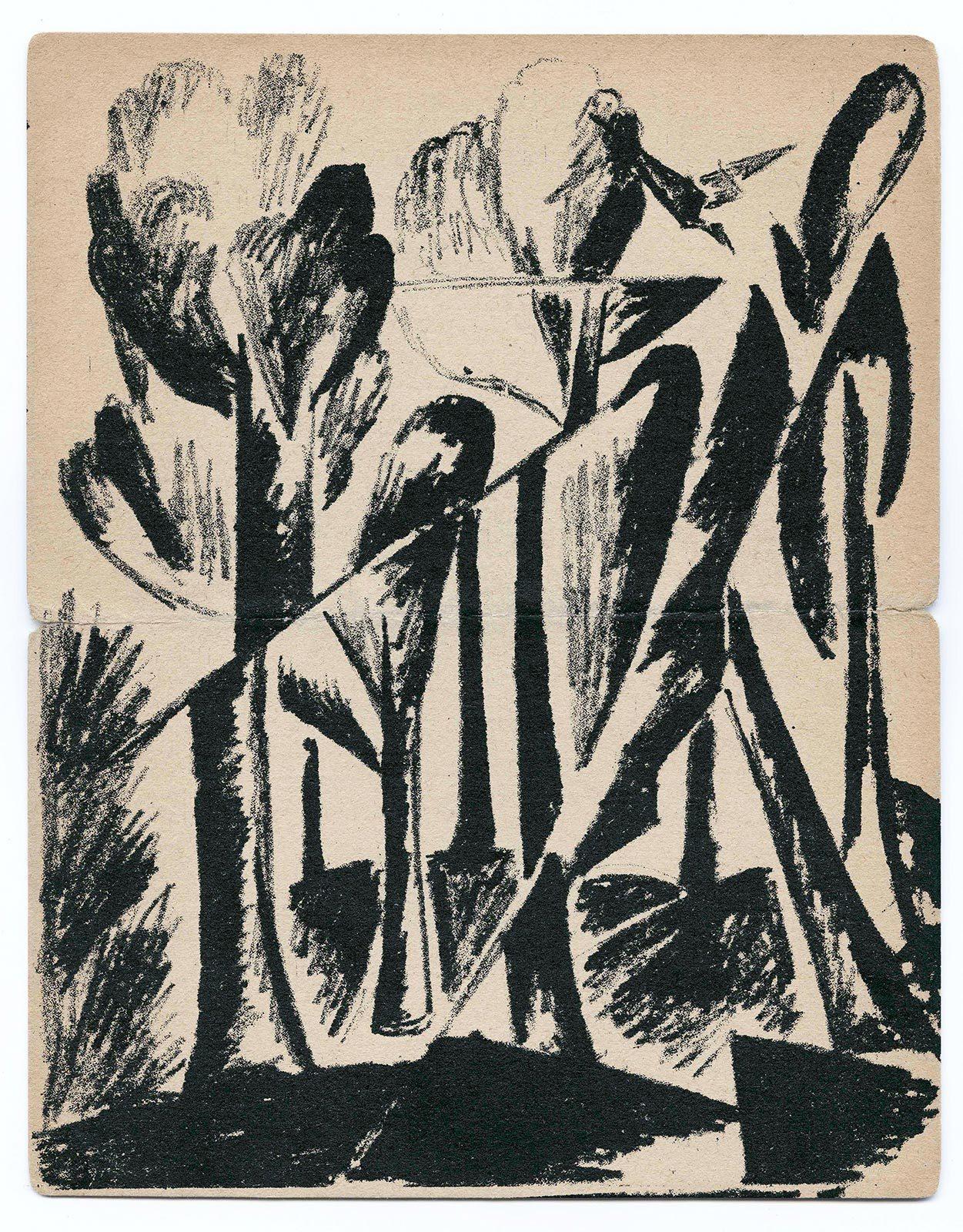 Черно-белая графика знаменитых художников, фото № 45