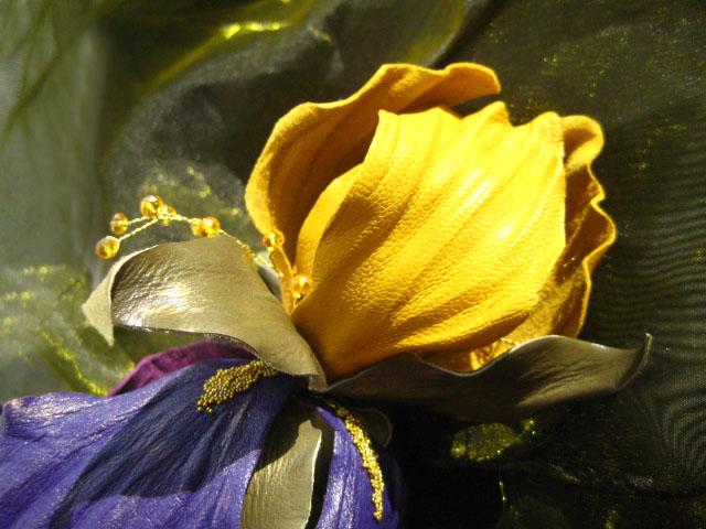 обучение цветы из кожи