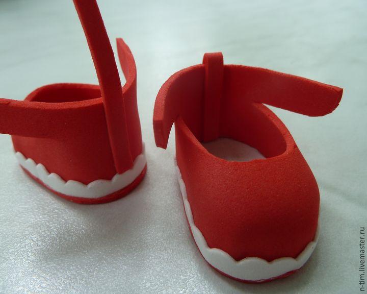 Обувь для кукол из фоамирана своими руками 65