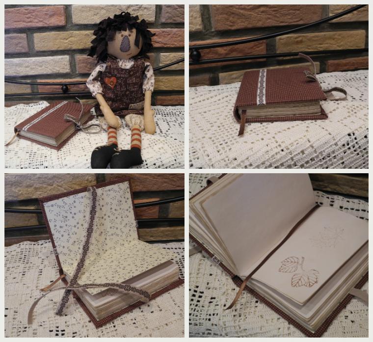 блокнот ручной работы, блокнот с нуля, блокнот, текстильный блокнот, коричневый, шоколадный