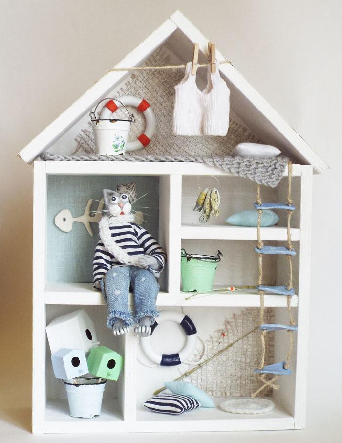 морской кот, авторская кукла