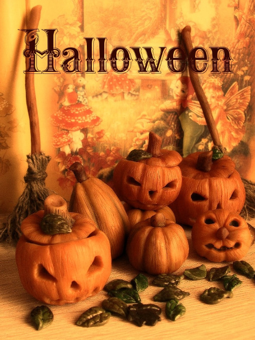 хеллоуин, тыква, шкатулка