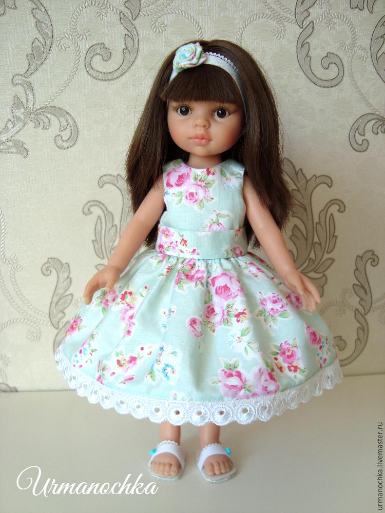 Красивое платье для куклы мастер класс