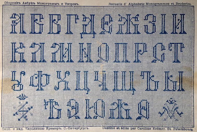 Монограмма букв для вышивки крестом