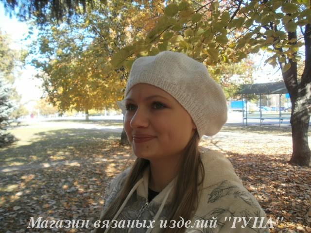 шапка и митенки в косах