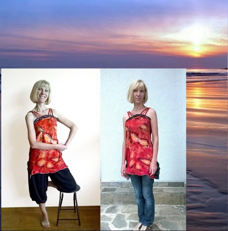 материалы для рукоделия, ткань для шитья, красный, шитьё, валяние, валяная одежда, нарядное платье, пошив, материал для шитья, сшить