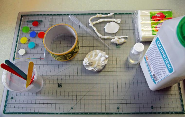 Как сделать без изъянов силиконовую форму для мыла, свечей и статуэток со сложным рельефом - Ярмарка Мастеров - ручная работа, h