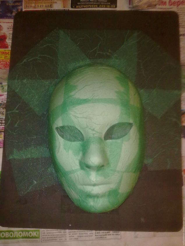 Изготовление венецианской маски с перьями.Техника папье-маше., фото № 2