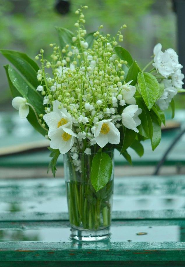 поздравление картинка цветы ландыши нарциссы лилии идеале парное