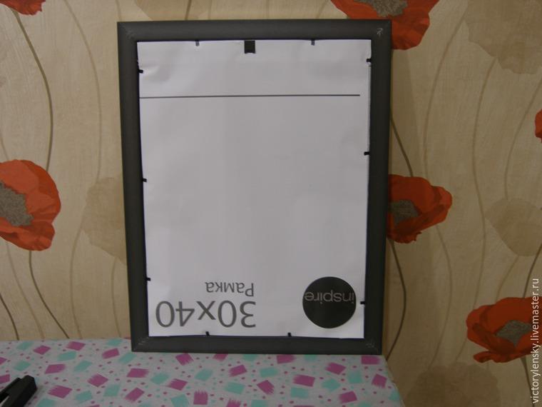 Оформление готовой вышивки в рамку, фото № 20