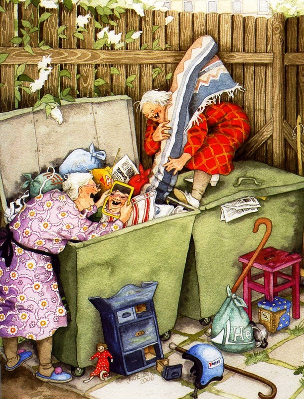 Смешные открытки с бабушками