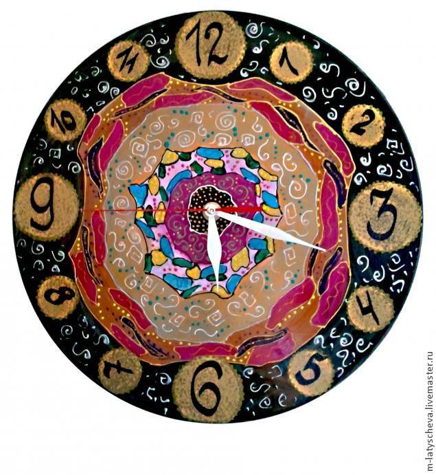 Яркие настенные часы (роспись), фото № 31