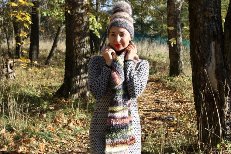 вязаные шарфы, вязаный шарф спицами, шарф спицами, вязание шарфов, шарф для начинающих, для начинающих, простой шарф спицами, классический шарф, простой узор для шарфа