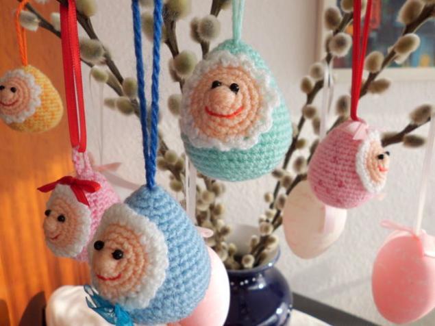 сувенир, подарок, пасха, пасхальные яйца, вязаные игрушки
