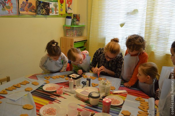 имбирные пряники, детский мастер-класс